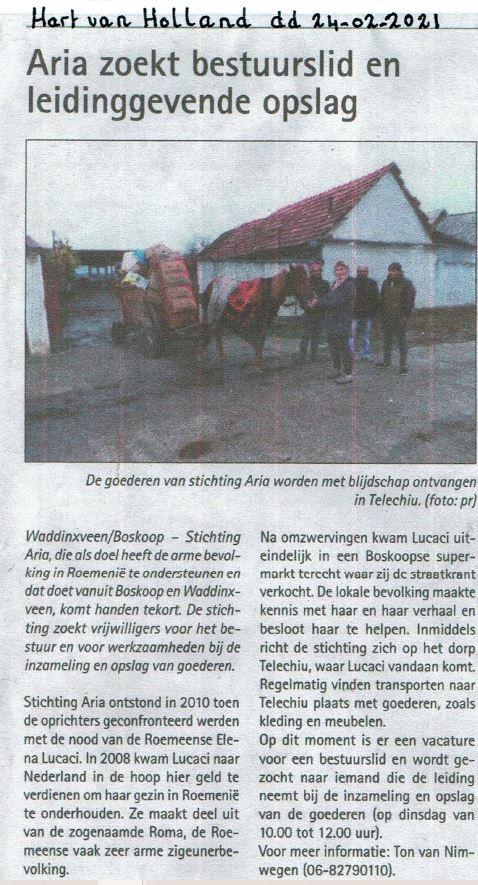Artikel Hart van Holland